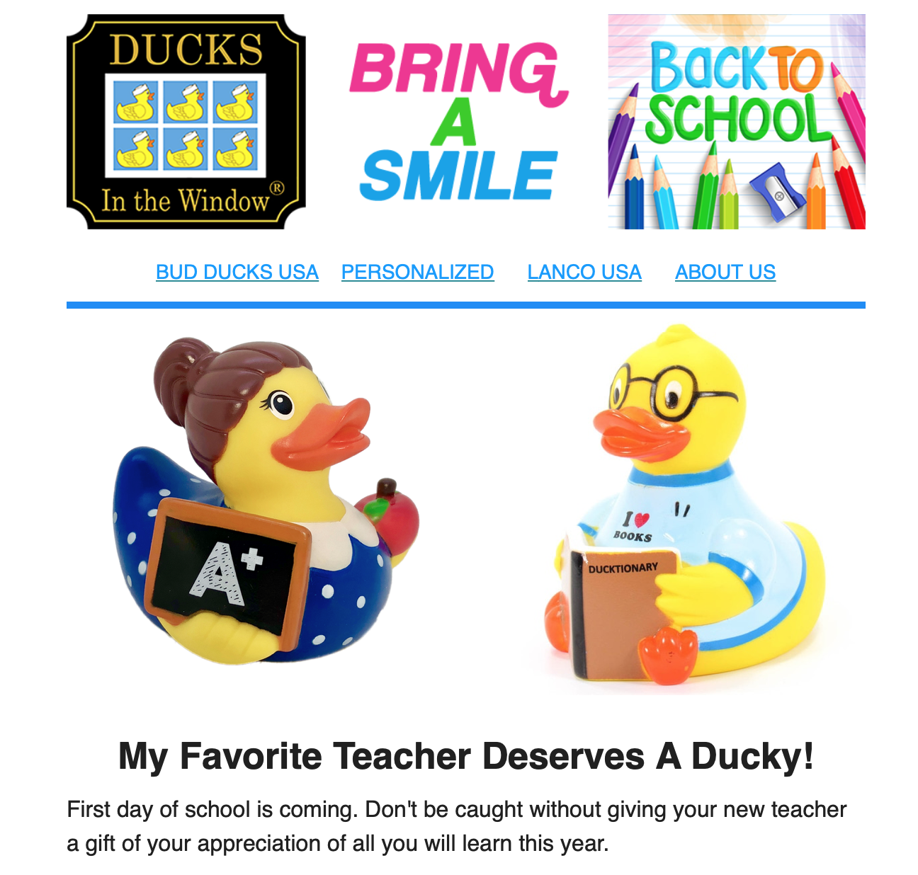 Back To School - Ducks In The Window®